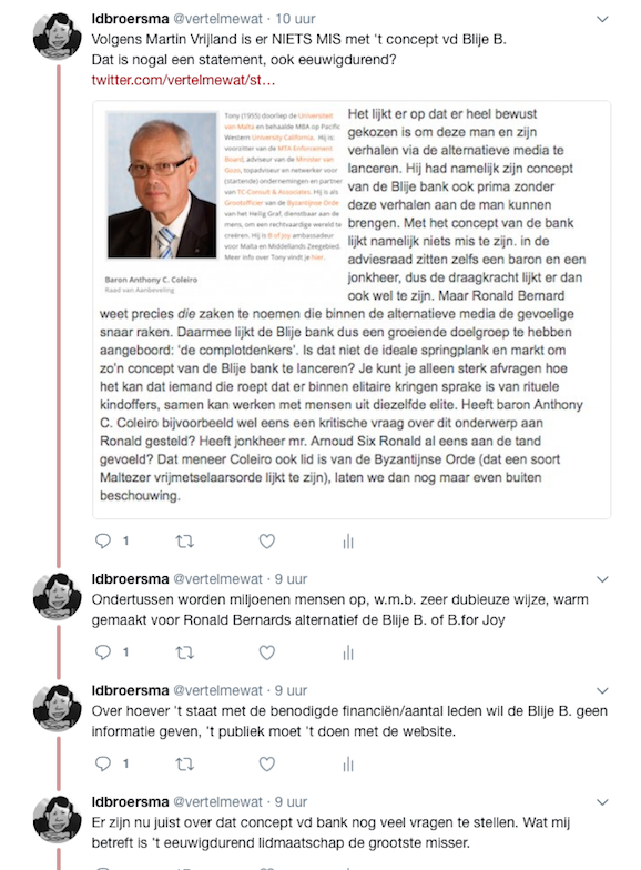 Martin Vrijland statement over de blije b.